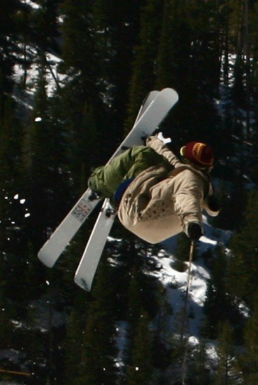 Grabbing my floppy skis