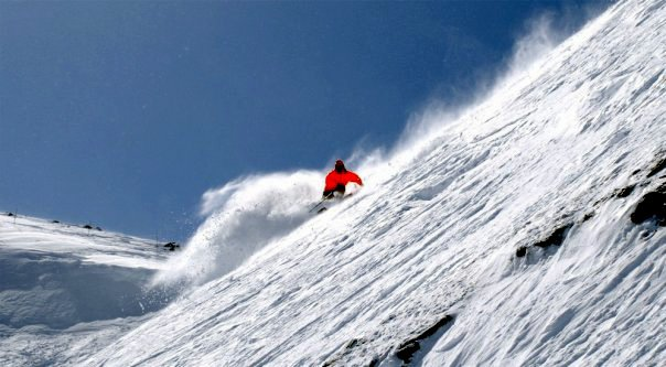 Spring skiing in the rockies