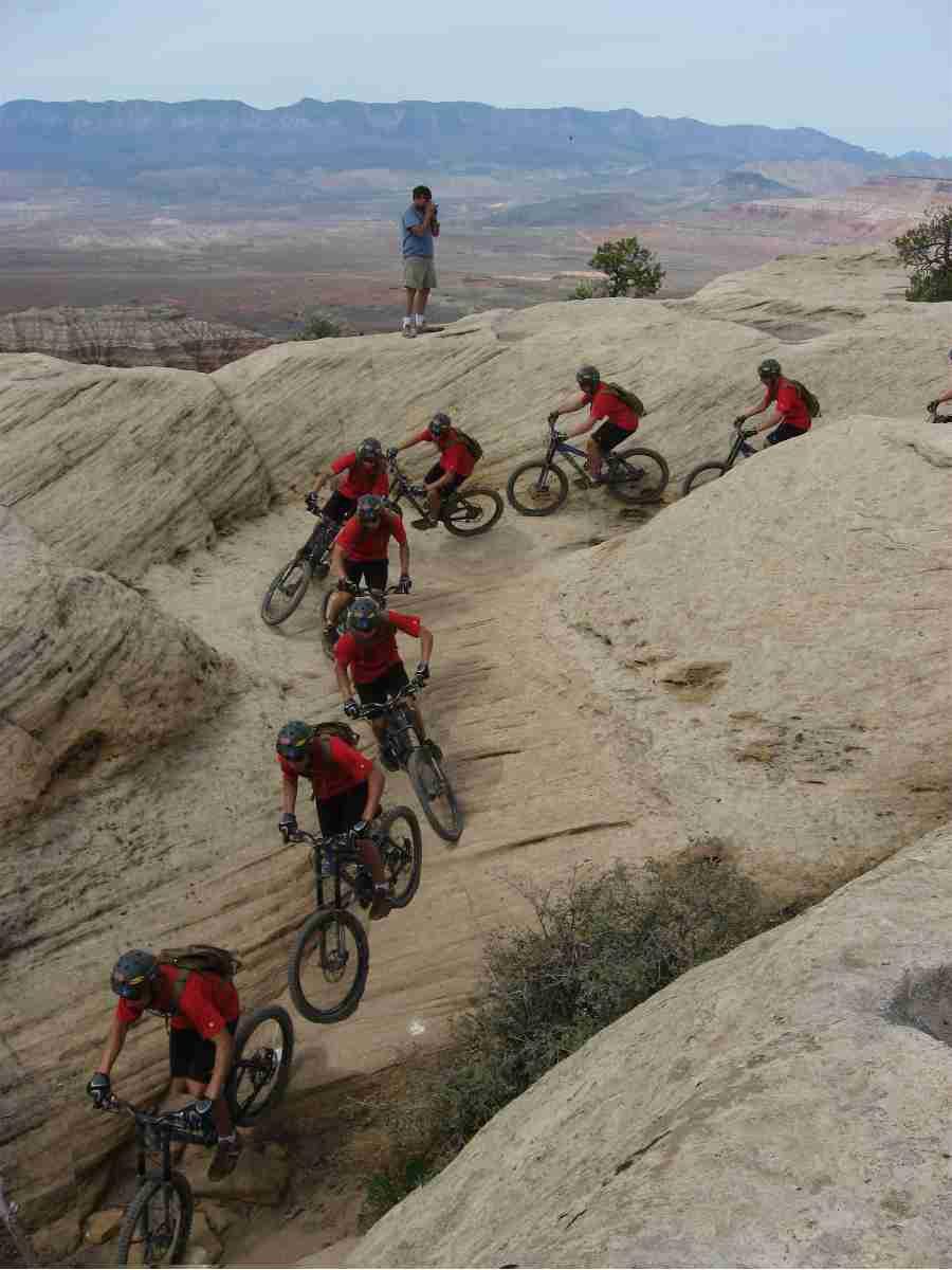 Biking near Virgin