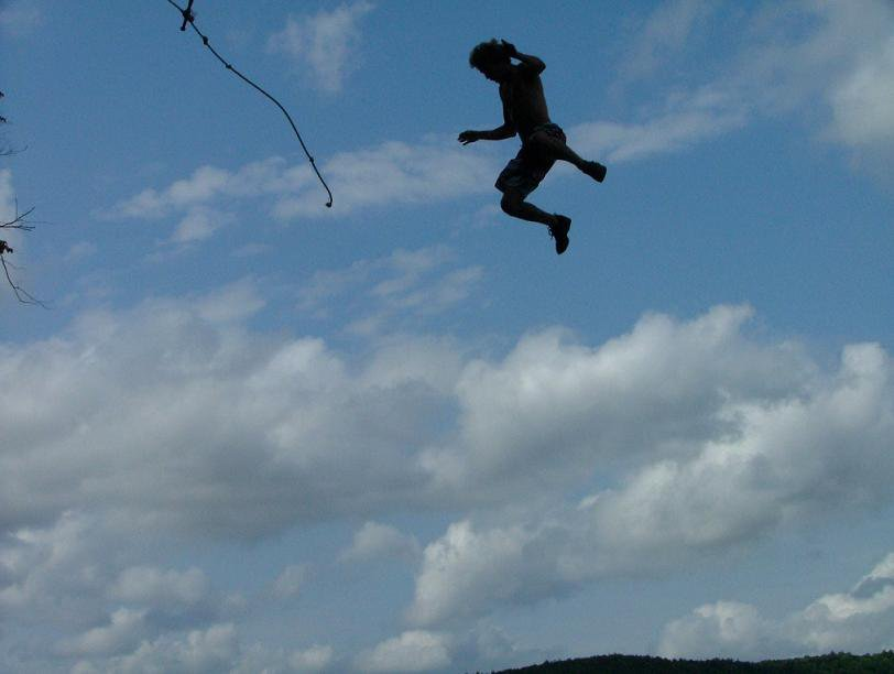 Rope swing last year