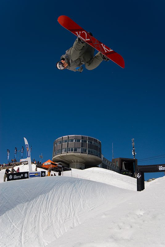 Snowboard pipe @ The Brits