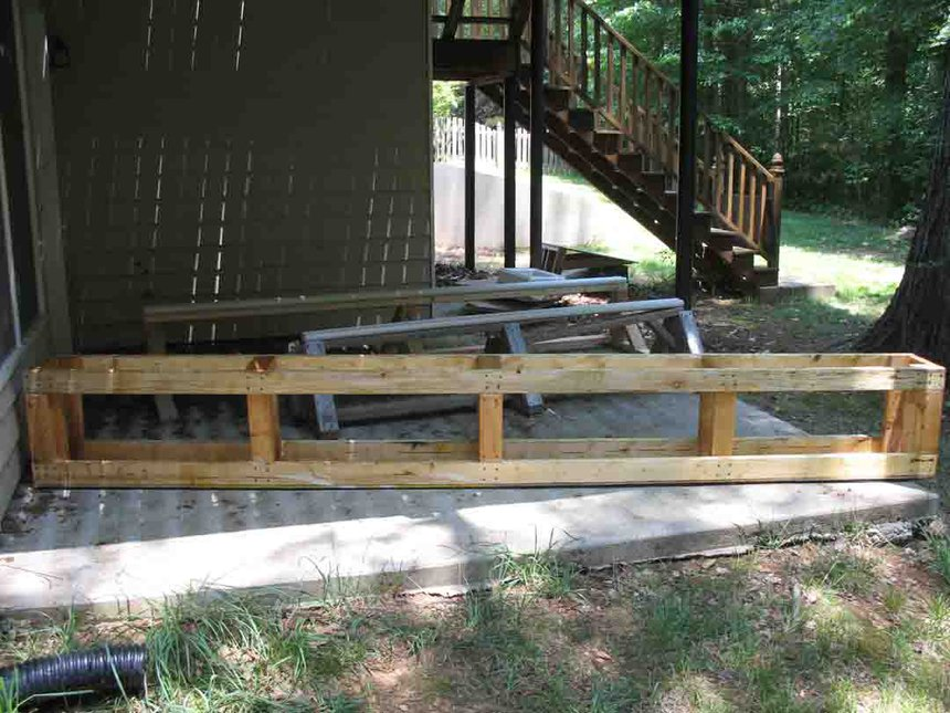 The rails for my backyard set up