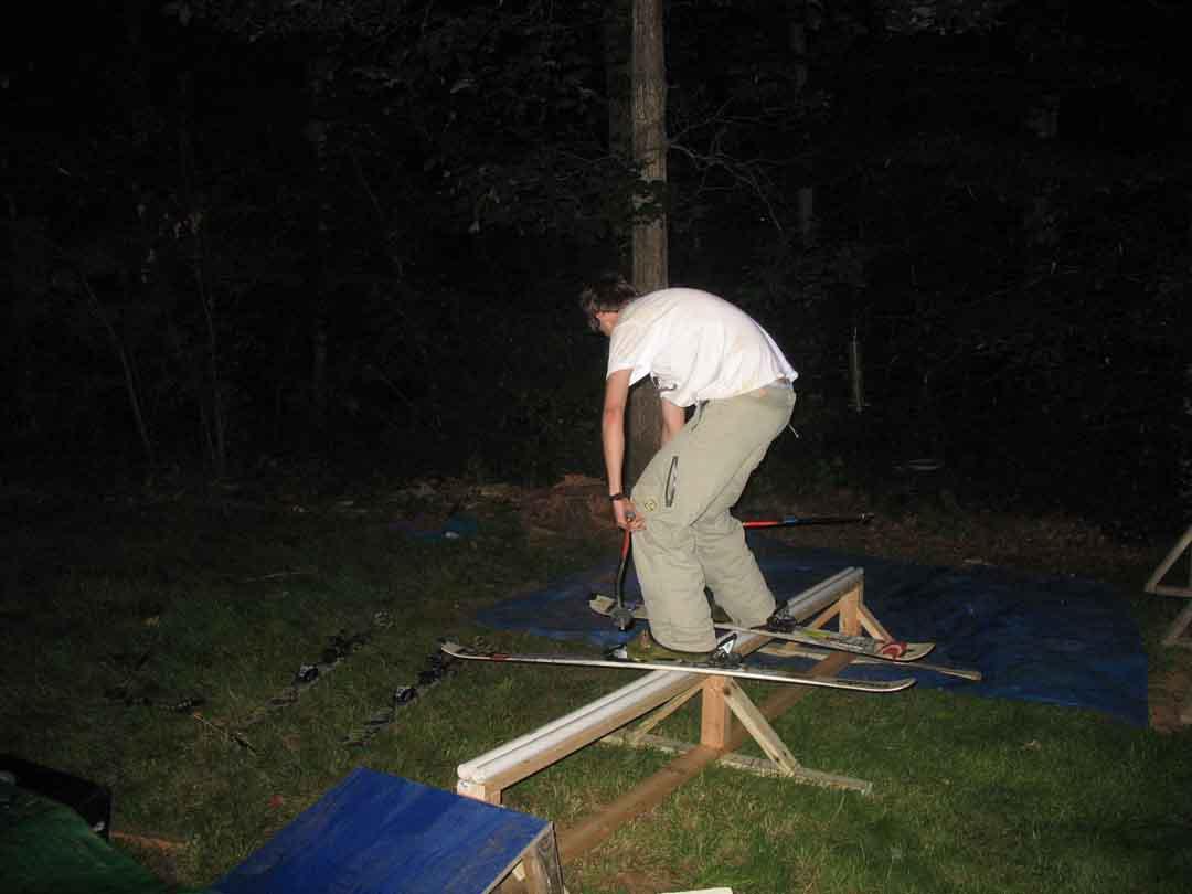 Backyard 10 ft rail