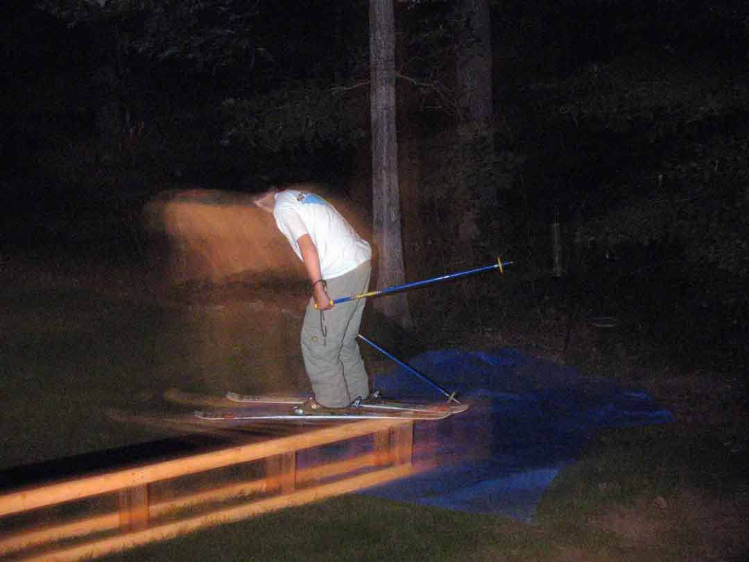 Cool night shot of me on my backyard box