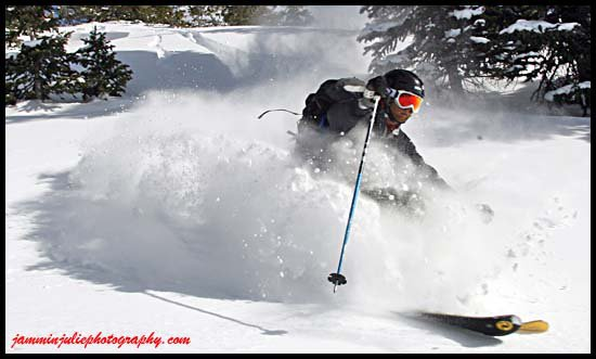 Silverton sidecountry pow on 12/1