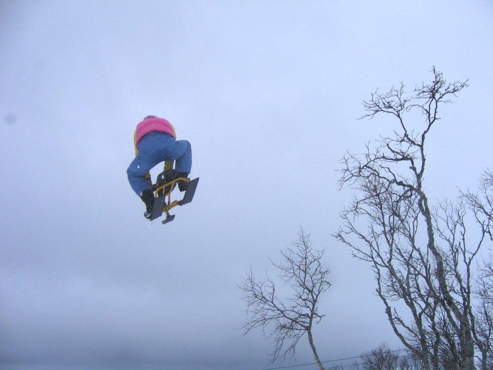 Snowracer huck #2
