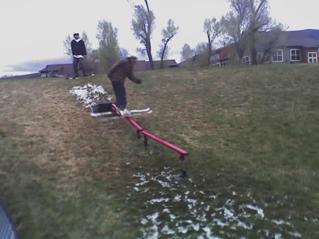 Ice skiing down-flat pic