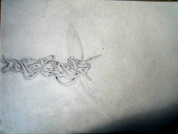 Graff skech