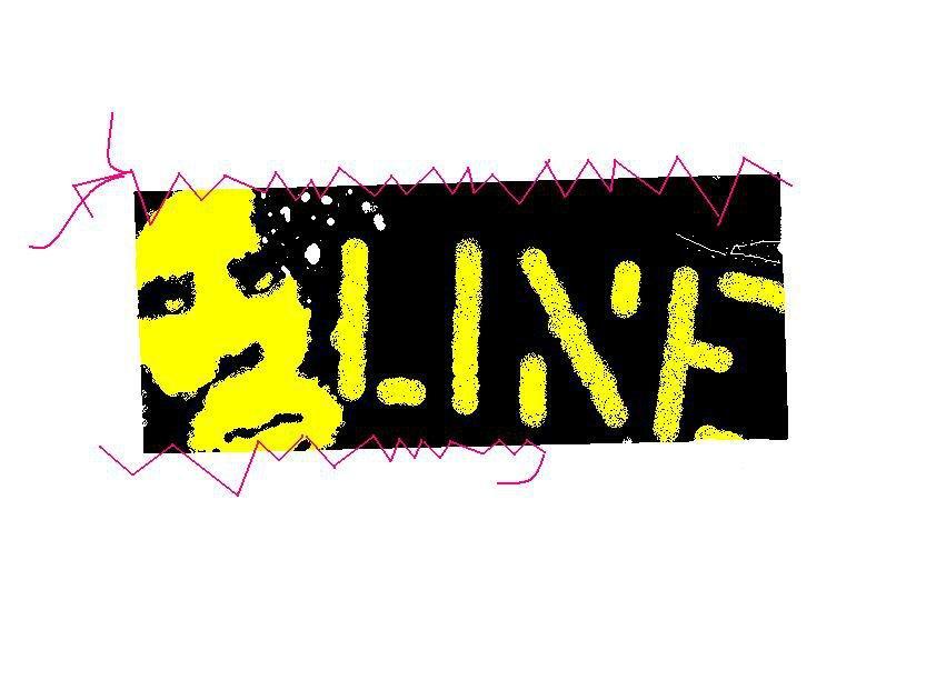 Line sticker on paint