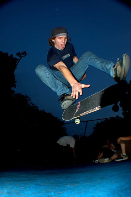 Skater boarding