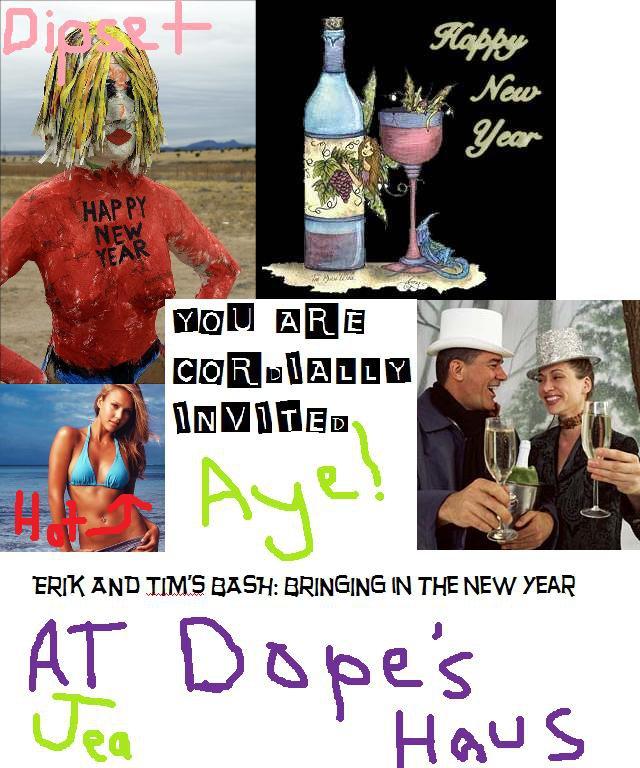 New years invitations