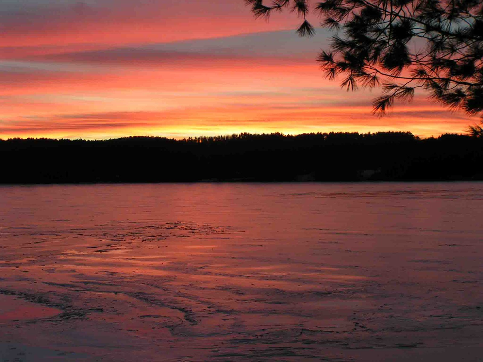 Maine Winter Sunset