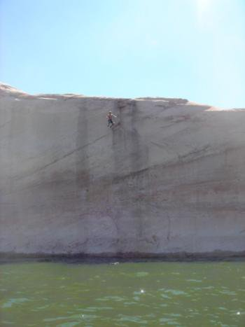 Friend Dropping Huge Cliff