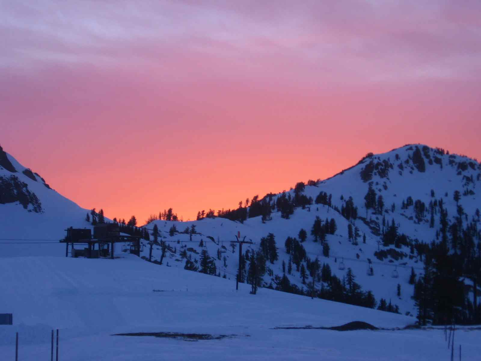 Sunset at High Camp