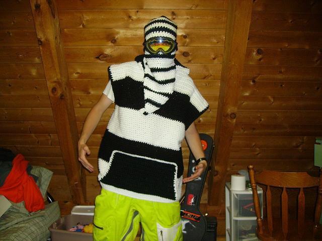 Crocheted hoodie