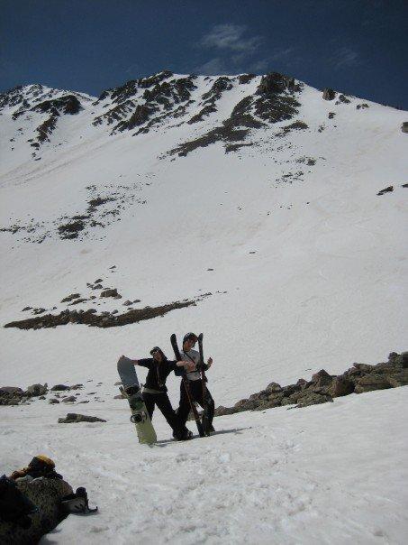 We skied a 14er in June