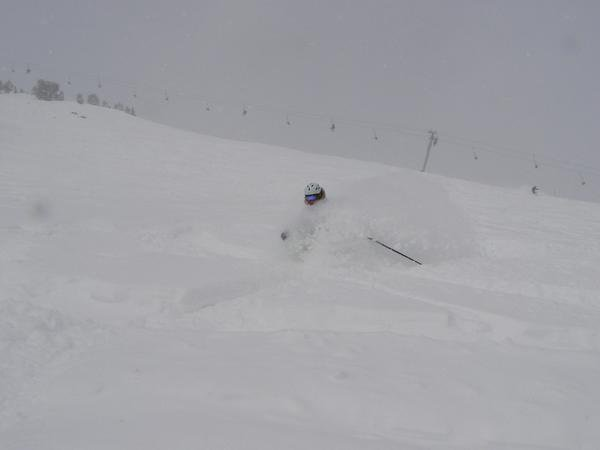 April Powder at Big Sky