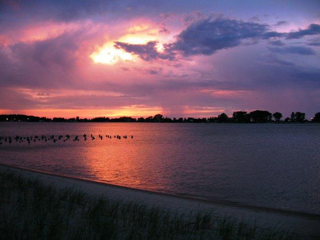 Sun Set Over Lake Superior in Grand Marais