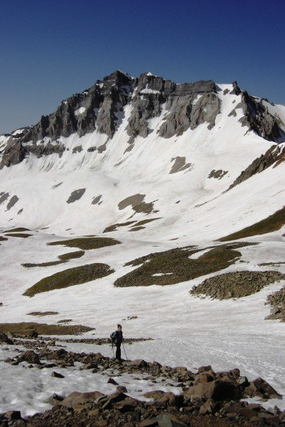 Hiking through the Sneffels Range