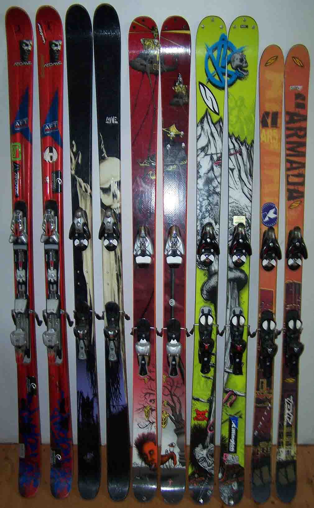 My skis + bother skis