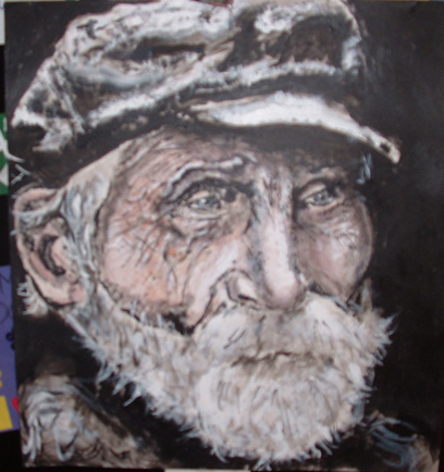 Old guy painting