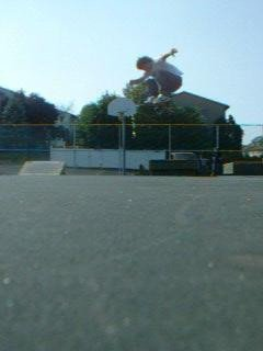 Hardflip off kicker