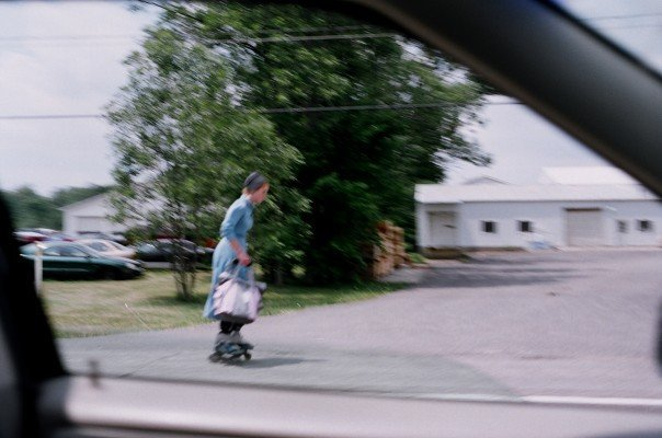 Amish rollerblader chick -- who knew!?!?!