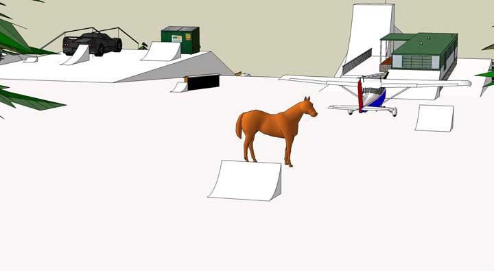 Horse jib
