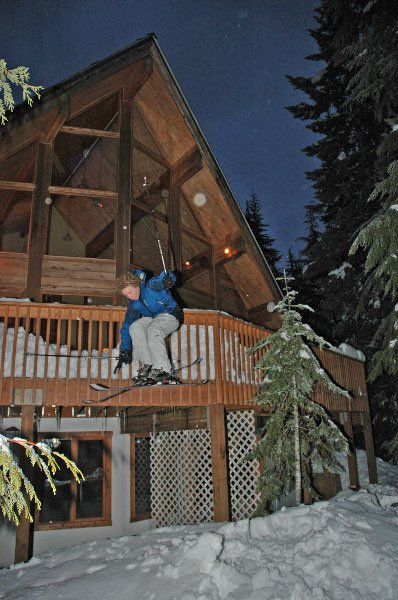 Jumping off deck