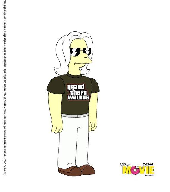 Mr.Bishop's Simpsons Character