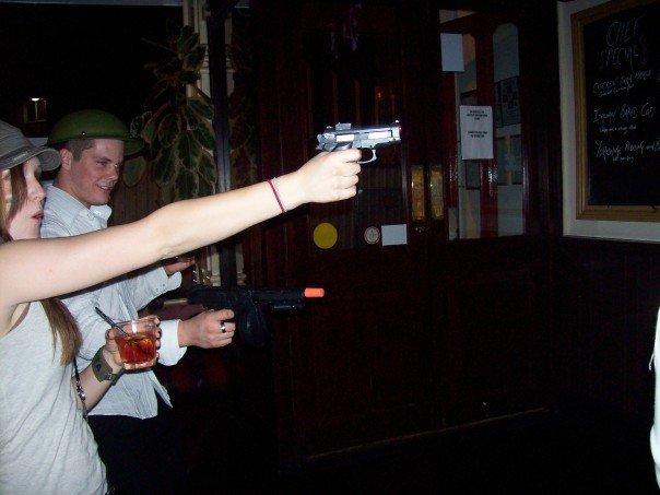 Army girl shootout