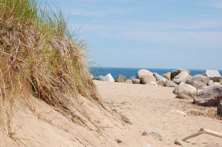 At the beach in Maine