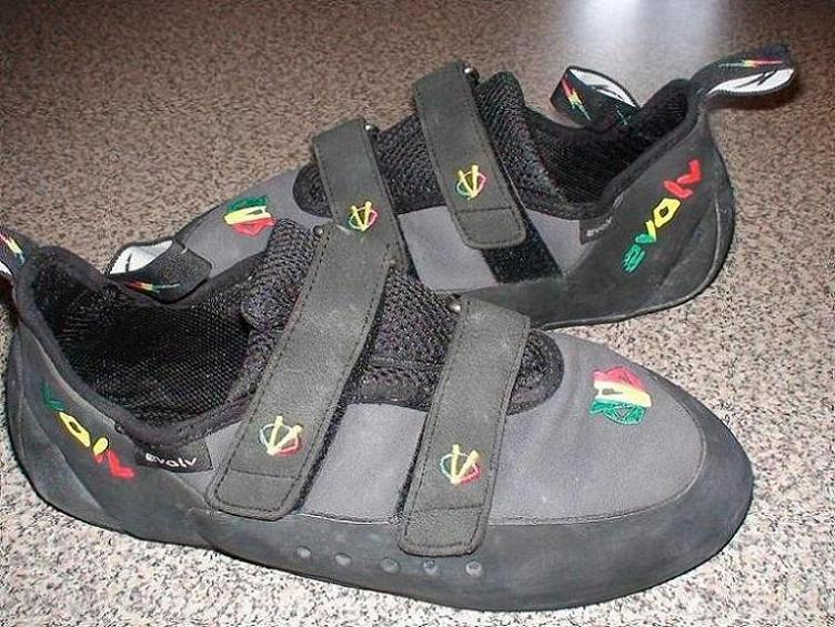 My rasta climbing shoes