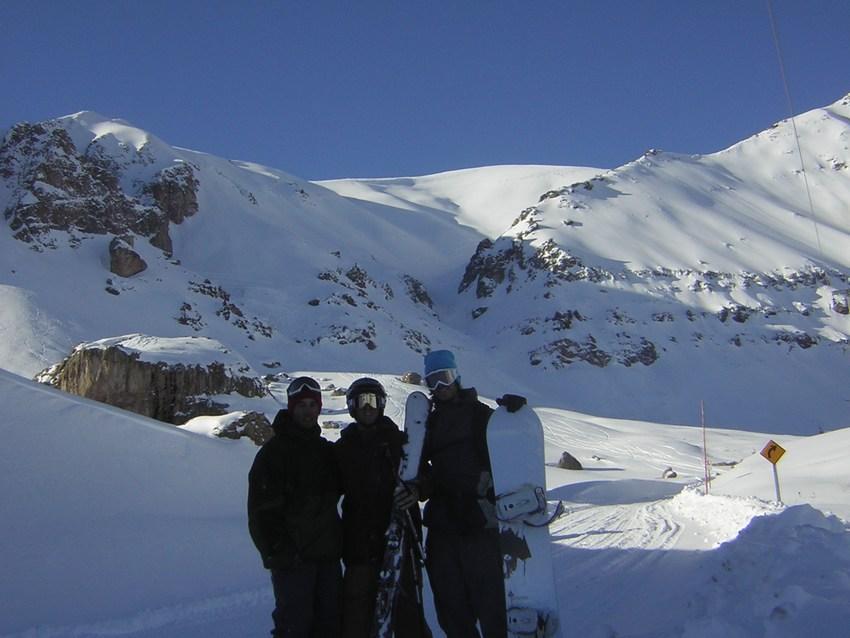 Pow skiing is fun in chile!!