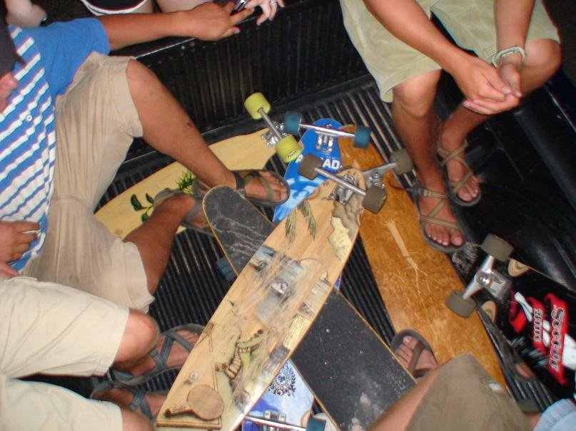 Our crews pile of longboards