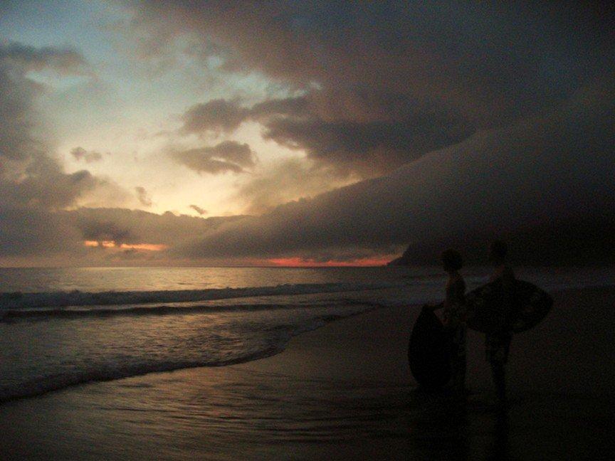 Sunset skim sesh