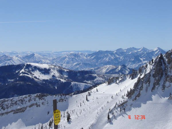 A sick view at the top of snowbird