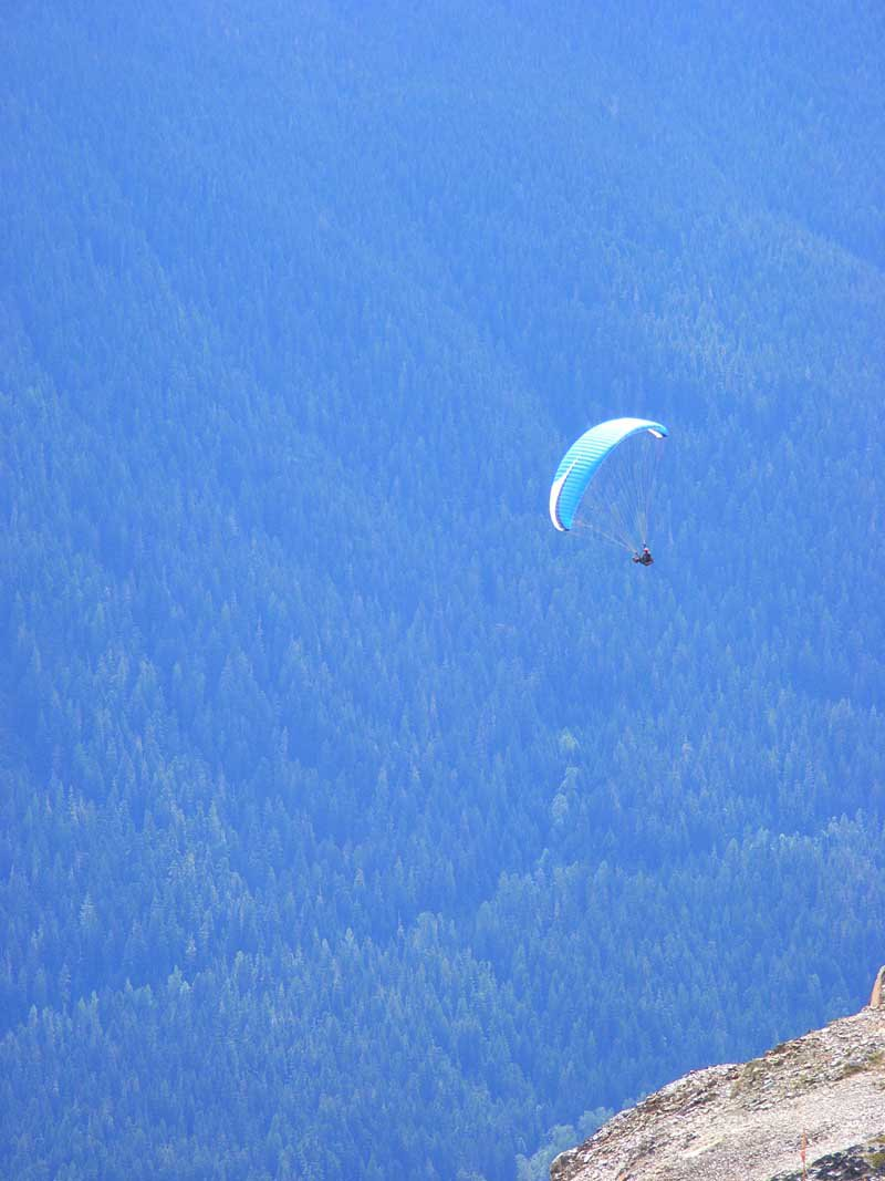 Dude Paragliding at Whistler Peak