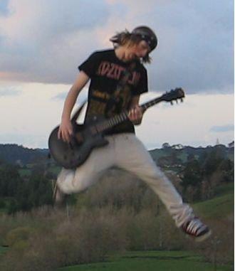 Trampoline guitar haha
