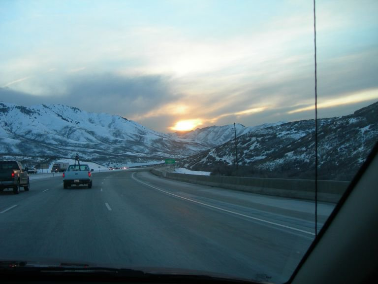 Driving back to vail