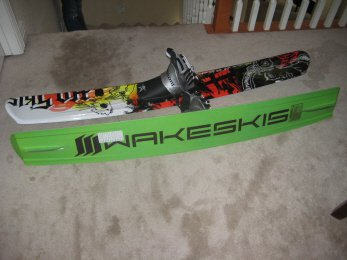 Wake skis THE DOPEST NEW THING