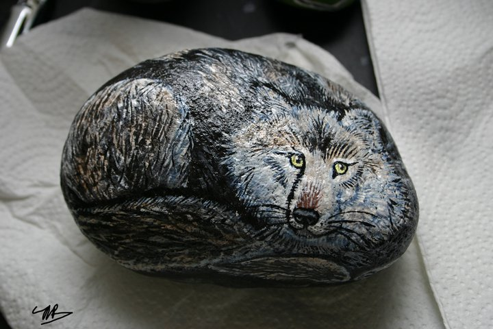I turned a rock into a wolf.