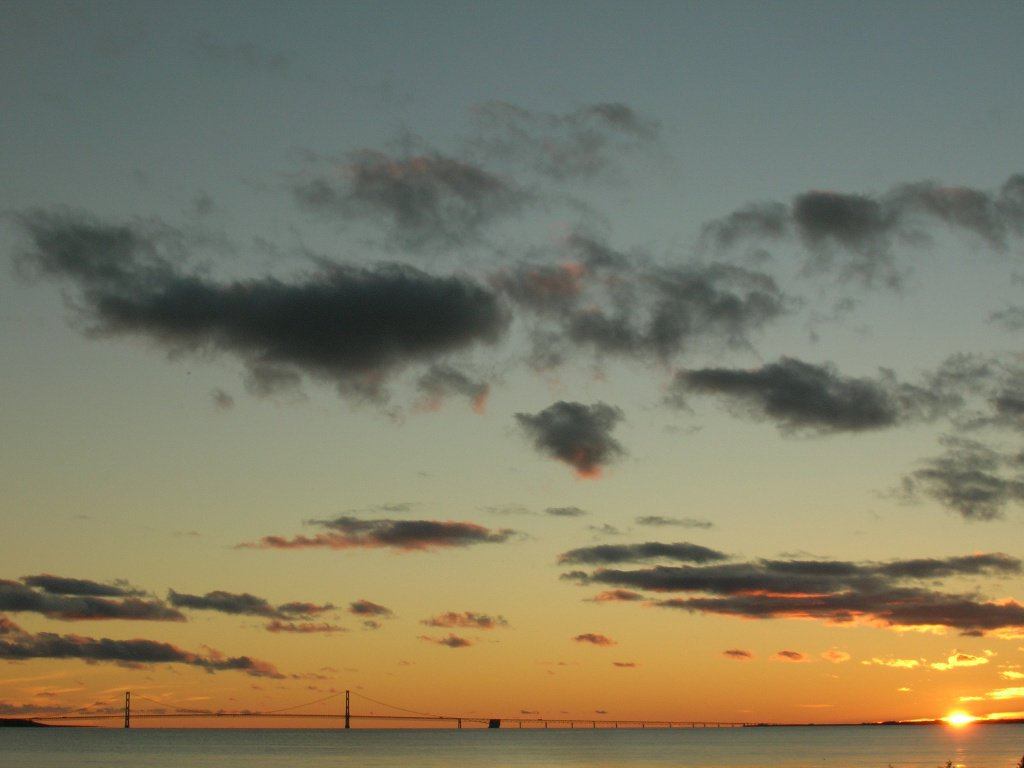 Mackinac Straights at Sunset
