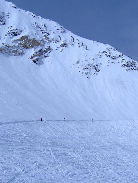 Traversing Across a Trail at Snowbird