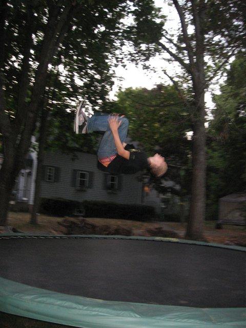 Backflip on the tramp