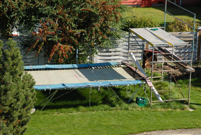 Trampoline set-up
