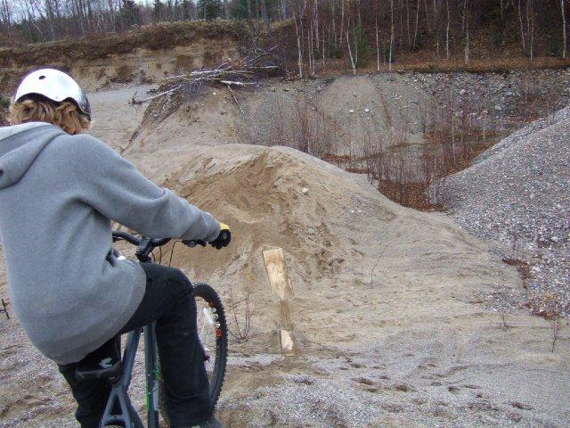 Me biking at a pit