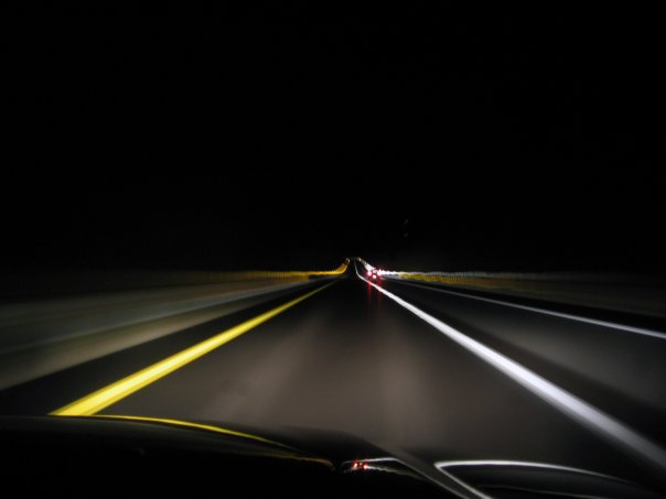 Long Exposure on a Long Car Ride