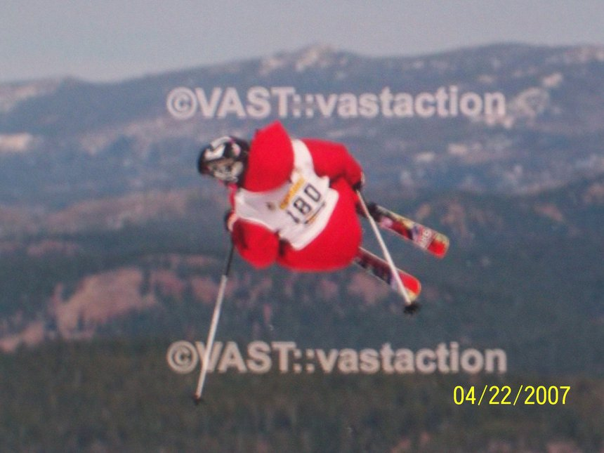 Air jibbing. at northstar