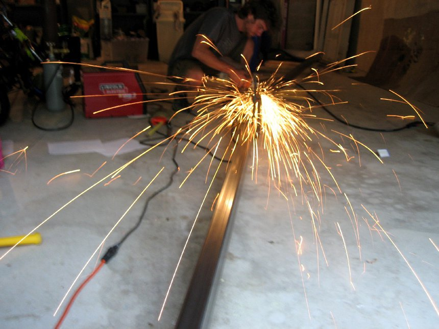 Building the new A-Frame rail